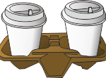 бумажная подставка для стаканов